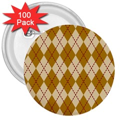 Plaid Triangle Line Wave Chevron Orange Red Grey Beauty Argyle 3  Buttons (100 Pack)  by Alisyart