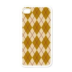 Plaid Triangle Line Wave Chevron Orange Red Grey Beauty Argyle Apple Iphone 4 Case (white) by Alisyart