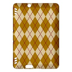 Plaid Triangle Line Wave Chevron Orange Red Grey Beauty Argyle Kindle Fire Hdx Hardshell Case by Alisyart