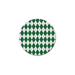 Plaid Triangle Line Wave Chevron Green Red White Beauty Argyle Golf Ball Marker (4 Pack) by Alisyart