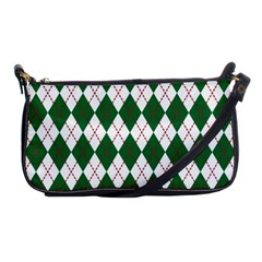 Plaid Triangle Line Wave Chevron Green Red White Beauty Argyle Shoulder Clutch Bags by Alisyart