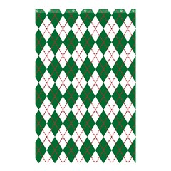 Plaid Triangle Line Wave Chevron Green Red White Beauty Argyle Shower Curtain 48  X 72  (small)  by Alisyart