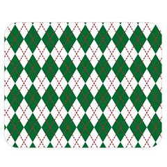 Plaid Triangle Line Wave Chevron Green Red White Beauty Argyle Double Sided Flano Blanket (medium)  by Alisyart