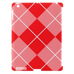 Plaid Triangle Line Wave Chevron Red White Beauty Argyle Apple Ipad 3/4 Hardshell Case (compatible With Smart Cover) by Alisyart