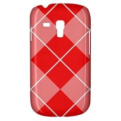 Plaid Triangle Line Wave Chevron Red White Beauty Argyle Galaxy S3 Mini by Alisyart