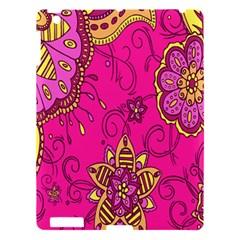 Pink Lemonade Flower Floral Rose Sunflower Leaf Star Pink Apple Ipad 3/4 Hardshell Case by Alisyart