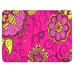 Pink Lemonade Flower Floral Rose Sunflower Leaf Star Pink Samsung Galaxy Tab 7  P1000 Flip Case by Alisyart