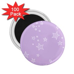 Star Lavender Purple Space 2 25  Magnets (100 Pack)  by Alisyart