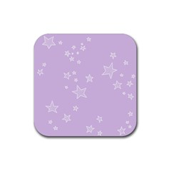 Star Lavender Purple Space Rubber Coaster (square)  by Alisyart