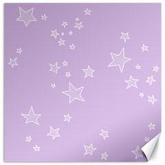 Star Lavender Purple Space Canvas 12  X 12   by Alisyart