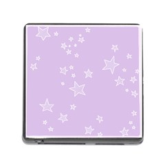 Star Lavender Purple Space Memory Card Reader (square) by Alisyart