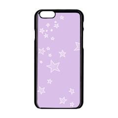 Star Lavender Purple Space Apple Iphone 6/6s Black Enamel Case by Alisyart