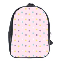 Star Rainbow Coror Purple Gold White Blue School Bags(large)  by Alisyart