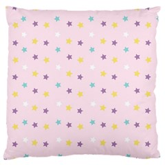 Star Rainbow Coror Purple Gold White Blue Large Cushion Case (two Sides) by Alisyart