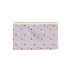 Star Rainbow Coror Purple Gold White Blue Cosmetic Bag (xs) by Alisyart