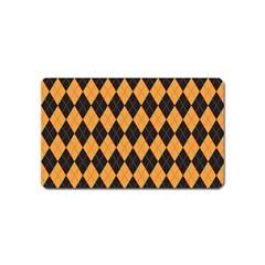 Plaid Triangle Line Wave Chevron Yellow Red Blue Orange Black Beauty Argyle Magnet (name Card) by Alisyart
