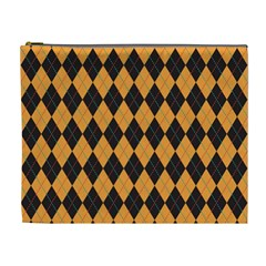 Plaid Triangle Line Wave Chevron Yellow Red Blue Orange Black Beauty Argyle Cosmetic Bag (xl) by Alisyart