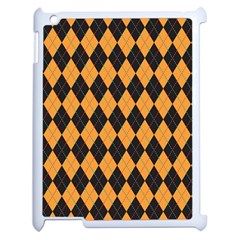 Plaid Triangle Line Wave Chevron Yellow Red Blue Orange Black Beauty Argyle Apple Ipad 2 Case (white) by Alisyart