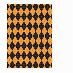 Plaid Triangle Line Wave Chevron Yellow Red Blue Orange Black Beauty Argyle Large Garden Flag (two Sides) by Alisyart