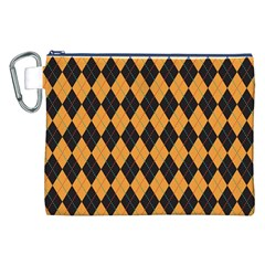 Plaid Triangle Line Wave Chevron Yellow Red Blue Orange Black Beauty Argyle Canvas Cosmetic Bag (xxl) by Alisyart