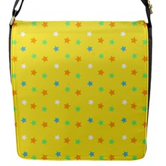Star Rainbow Coror Purple Gold White Blue Yellow Flap Messenger Bag (s) by Alisyart