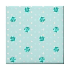Star White Fan Blue Tile Coasters by Alisyart