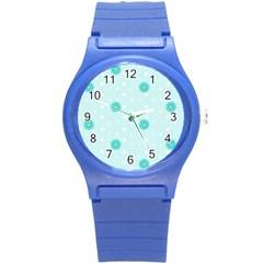 Star White Fan Blue Round Plastic Sport Watch (s) by Alisyart