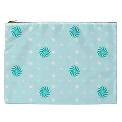 Star White Fan Blue Cosmetic Bag (xxl)  by Alisyart