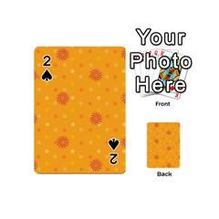 Star White Fan Orange Gold Playing Cards 54 (mini)  by Alisyart