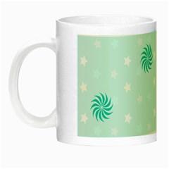 Star White Fan Blue Night Luminous Mugs by Alisyart