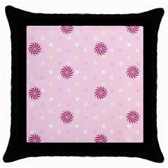 Star White Fan Pink Throw Pillow Case (black) by Alisyart