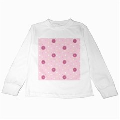 Star White Fan Pink Kids Long Sleeve T Shirts by Alisyart