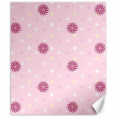 Star White Fan Pink Canvas 20  X 24   by Alisyart