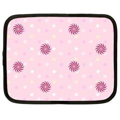 Star White Fan Pink Netbook Case (xxl)  by Alisyart