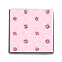 Star White Fan Pink Memory Card Reader (square) by Alisyart