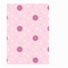 Star White Fan Pink Small Garden Flag (two Sides) by Alisyart