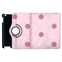 Star White Fan Pink Apple Ipad 3/4 Flip 360 Case by Alisyart