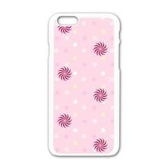 Star White Fan Pink Apple Iphone 6/6s White Enamel Case by Alisyart