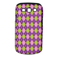 Plaid Triangle Line Wave Chevron Green Purple Grey Beauty Argyle Samsung Galaxy S Iii Classic Hardshell Case (pc+silicone) by Alisyart