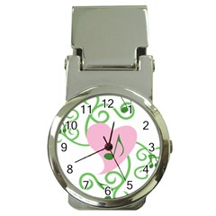 Sweetie Belle s Love Heart Music Note Leaf Green Pink Money Clip Watches by Alisyart