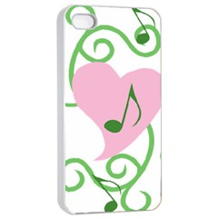 Sweetie Belle s Love Heart Music Note Leaf Green Pink Apple Iphone 4/4s Seamless Case (white) by Alisyart