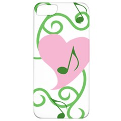 Sweetie Belle s Love Heart Music Note Leaf Green Pink Apple iPhone 5 Classic Hardshell Case