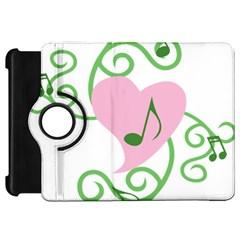 Sweetie Belle s Love Heart Music Note Leaf Green Pink Kindle Fire Hd 7  by Alisyart