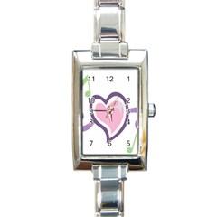Sweetie Belle s Love Heart Star Music Note Green Pink Purple Rectangle Italian Charm Watch by Alisyart