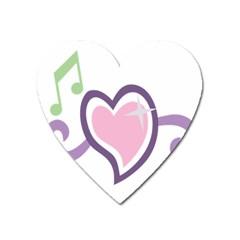 Sweetie Belle s Love Heart Star Music Note Green Pink Purple Heart Magnet by Alisyart