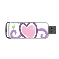 Sweetie Belle s Love Heart Star Music Note Green Pink Purple Portable Usb Flash (one Side) by Alisyart