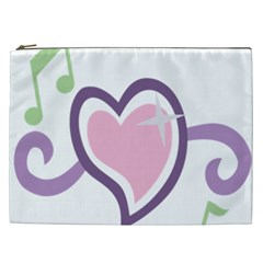 Sweetie Belle s Love Heart Star Music Note Green Pink Purple Cosmetic Bag (xxl)  by Alisyart