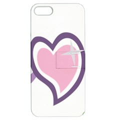 Sweetie Belle s Love Heart Star Music Note Green Pink Purple Apple Iphone 5 Hardshell Case With Stand by Alisyart