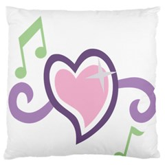 Sweetie Belle s Love Heart Star Music Note Green Pink Purple Large Flano Cushion Case (two Sides) by Alisyart