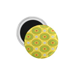 Sunflower Floral Yellow Blue Circle 1 75  Magnets by Alisyart